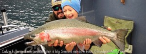 The Fullers catch a huge Rainbow
