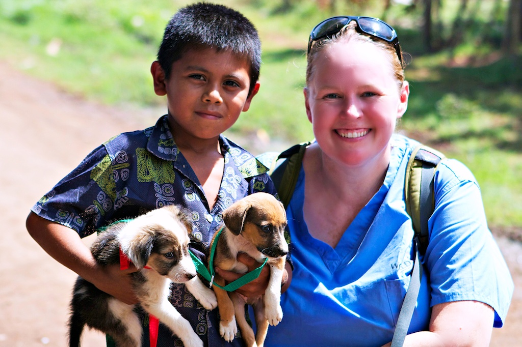 World Vets Founder Dr. Cathy King with a Nicaraguan boy